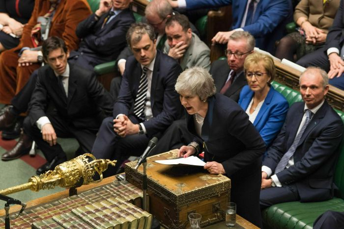 Image result for Theresa May suffers biggest defeat in UK history as MPs reject Brexit deal