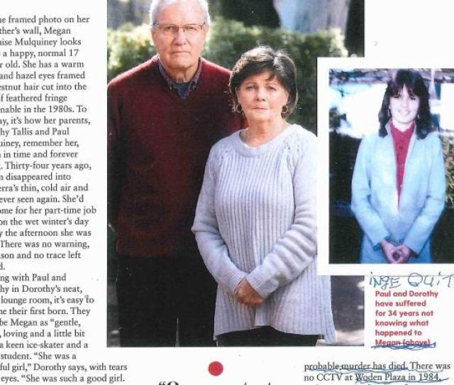 A Magazine Article In Australian Womens Weekly Showing A Picture Of Megan And Her Parents