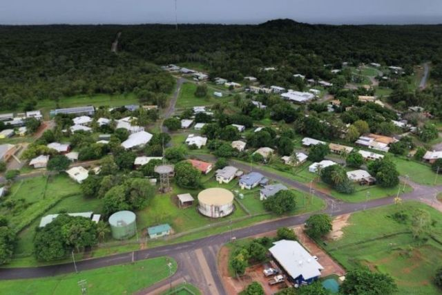 Aerial image of the Lockhart River township on Cape York