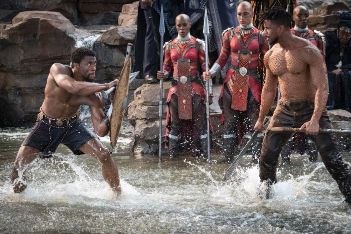 T'Challa and Killmonger fight