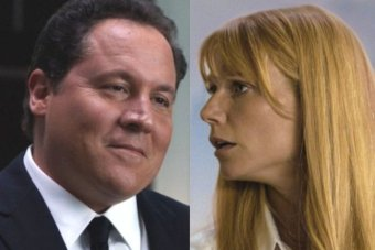 A composite image of Happy Hogan and Pepper Potts.