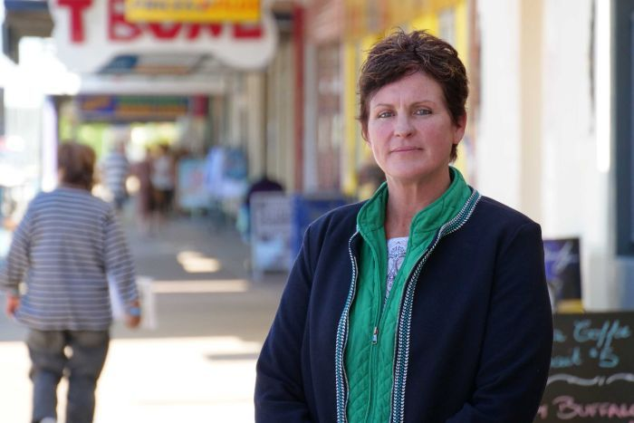 Resident Tanya King standing in the street of Longreach.