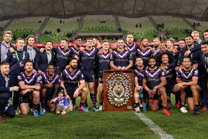 Rugby league team presented with trophy