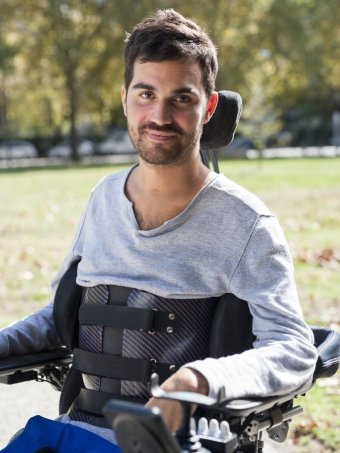 Paralysed man Thibault