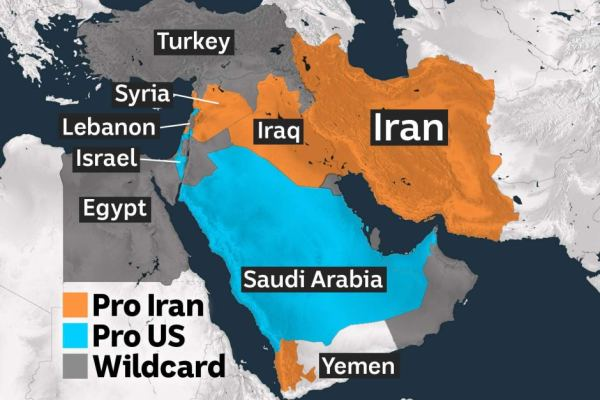 American and Iranian allies pictured in the Middle East ...