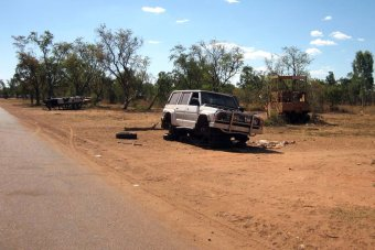 Abandoned car in Doomadgee