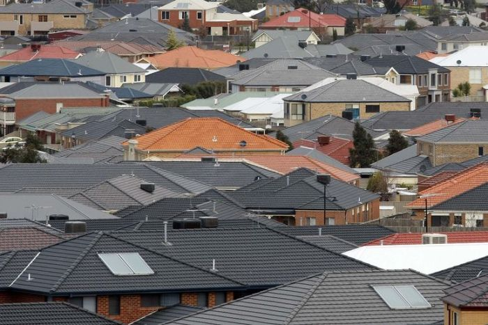 A sea of roofs in the outer suburb of Craigieburn