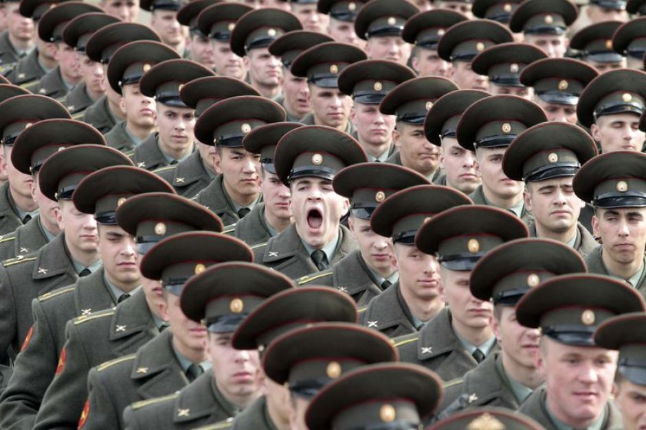 Image result for russian army yawn