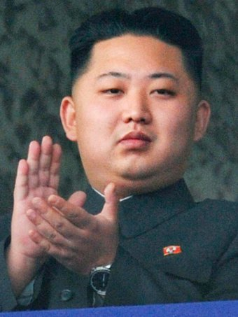 Kim Jong-un, the youngest son of former North Korean leader Kim Jong-il, watches a parade.