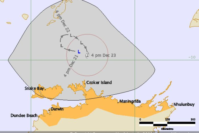 NT cyclone watch map
