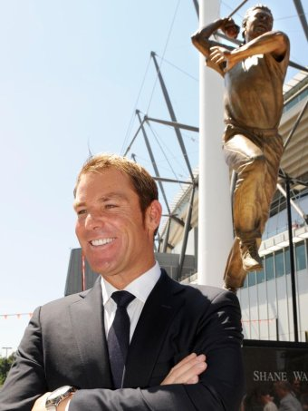 Warne was immortalised in bronze outside the MCG.