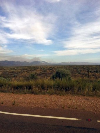 Bushfire over Flinders Ranges
