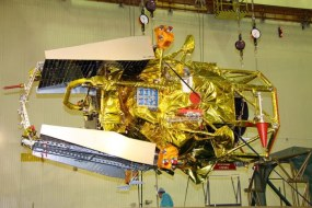 Russian Federal Space Agency specialists prepare the Phobos-Grunt spacecraft on October 18, 2011.