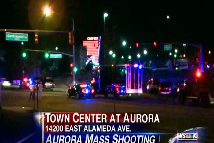 Images from US television show the location where the shooting reportedly occurred