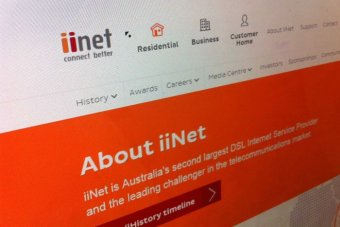 An image of iinet's website, October 10 2014.