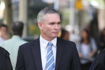 Craig Thomson arrives at Melbourne's County Court,