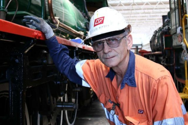 Queensland Rail steam fitter Marc Ferrar