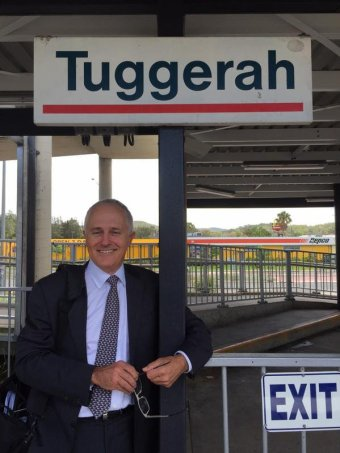 Malcolm Turnbull at Tuggerah train station