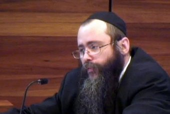 Rabbi Yosef Feldman at the royal commission