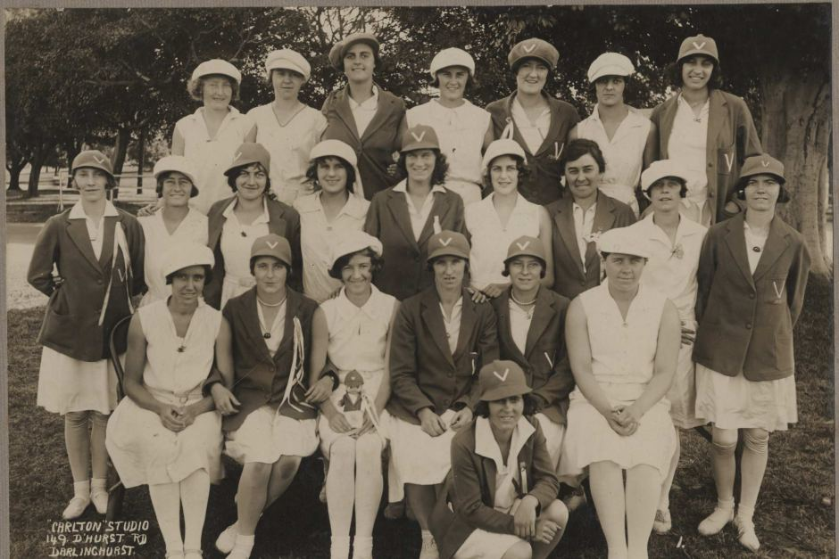 Victorian Womens Cricket Team Photographed In 1930 ABC