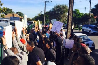 Protest outside an Islamic School in South Australia