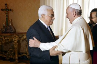 Pope Francis meets the Palestinian president Mahmoud Abbas at the Vatican, May 16th 2015