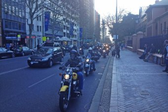 Motorcycle rally at Parliament House