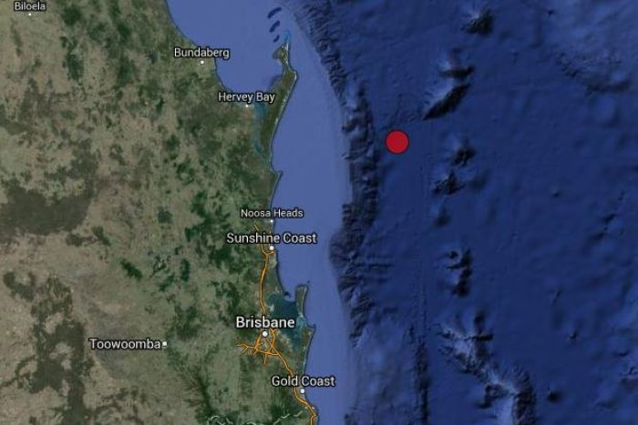 The earthquake struck off Queensland's Sunshine Coast