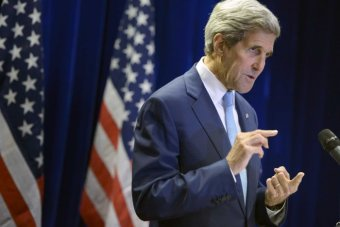 US secretary of state John Kerry speaks during a news conference in Malaysia