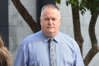 Policeman Rick Flori leaves the Southport Magistrates Court on the Gold Coast earlier this year.
