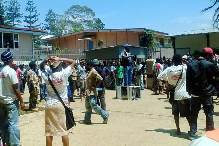 Students gather at the University of Goroka