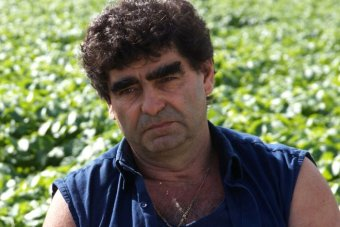 Tony Galati Spud Shed owner pictured in a field.