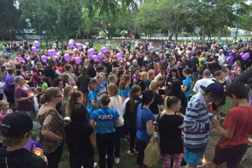 Schoolgirl Tiahleigh Palmer remembered at candlelight vigil