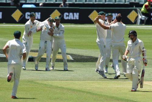 BJ Watling leaves the field after being dismissed on day three at Adelaide Oval