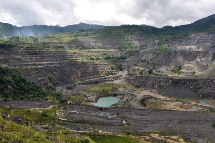 Panguna mine in Bougainville