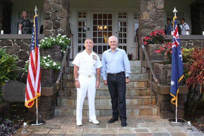 Malcolm Turnbull and Admiral Harry Harris