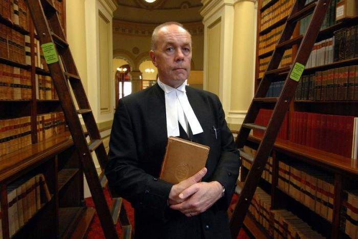Supreme Court Justice Lex Lasry in his judicial robes.