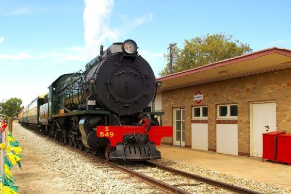 A heritage locomotive, which will run between Goomalling and Wyalkatchem during special events in WA.