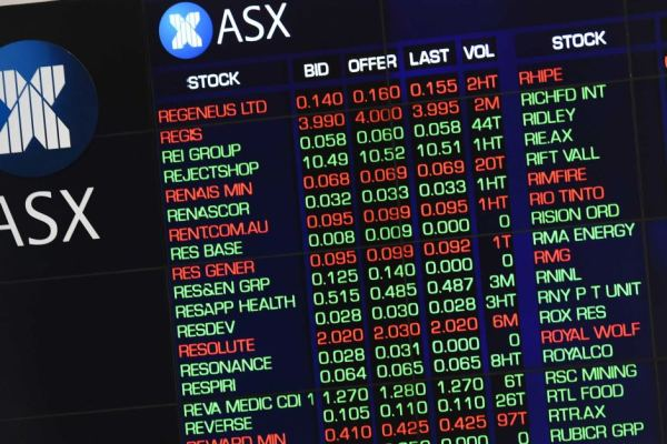 Market gains are displayed on the Australian Stock ...