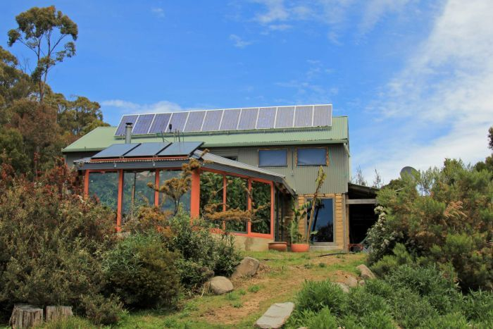 off-grid paradise in tasmania comes complete with grapes growing