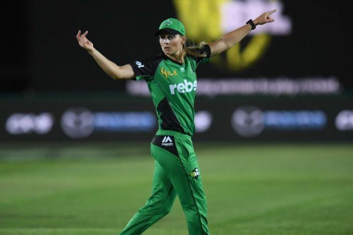 Meg Lanning of Melbourne Stars during the WBBL cricket match against Sydney Thunder.