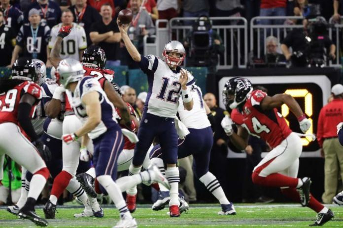 Tom Brady led the Patriots to victory over the Falcons in the Super Bowl.