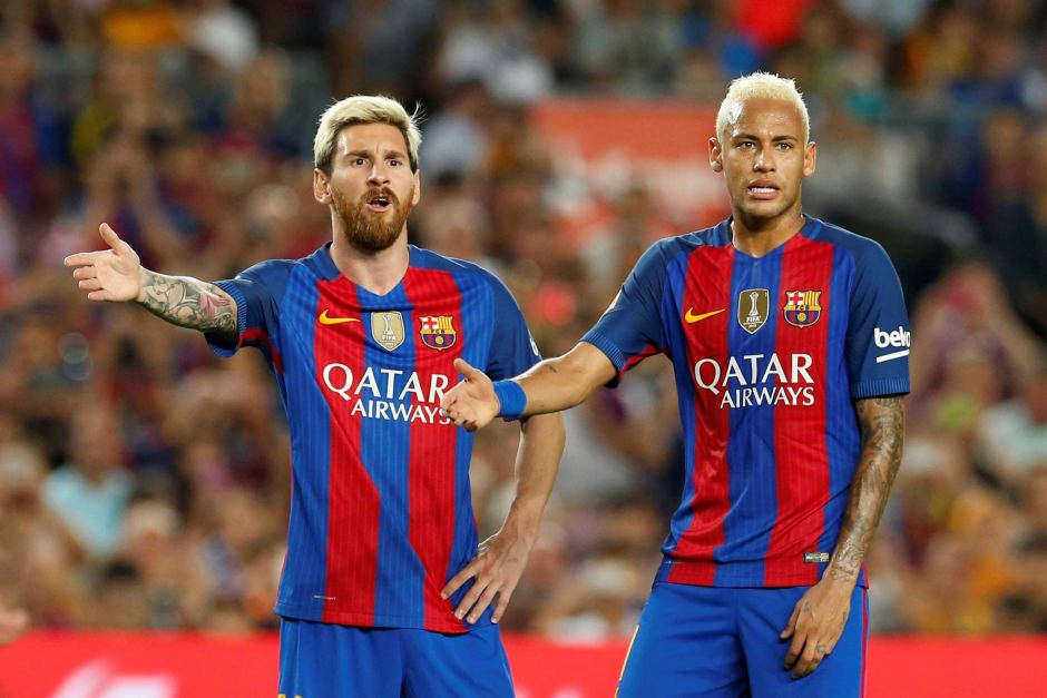 Image result for Neymar and Messi angry