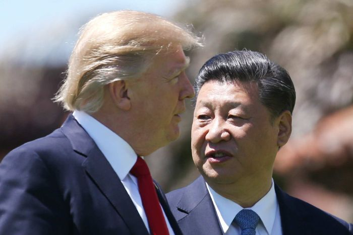US President Donald Trump with China's President Xi Jinping in April