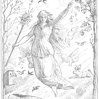 Drawing of Ostara by Johannes Gehrts
