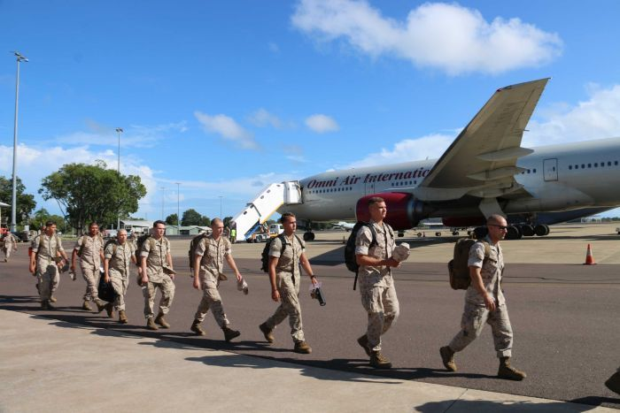 The latest rotation of US Marines arrive in Darwin