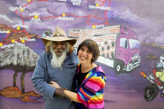 Sarah Brown at the Purple House headquarters of Western Desert Dialysis in Alice Springs