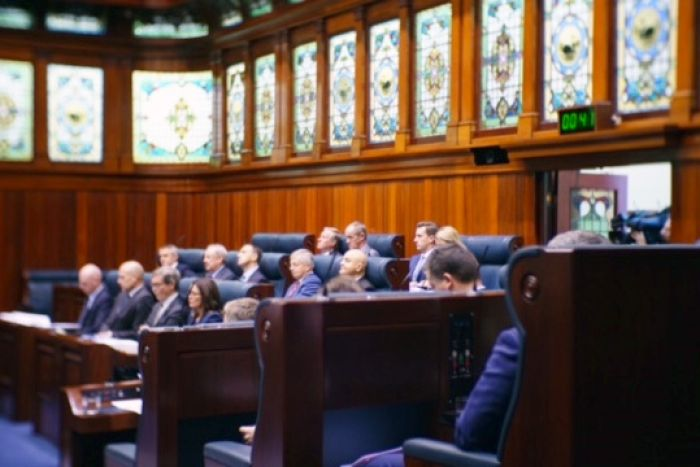MPs sitting inside WA Parliament's Lower House.