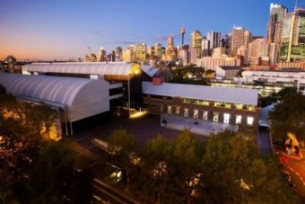 Aerial image of the Powerhouse Museum in Sydney.