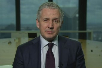 Telstra CEO Andy Penn during an interview